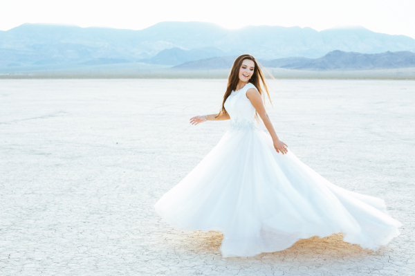 Las Vegas Desert Bridal Shoot | Gaby J Photography