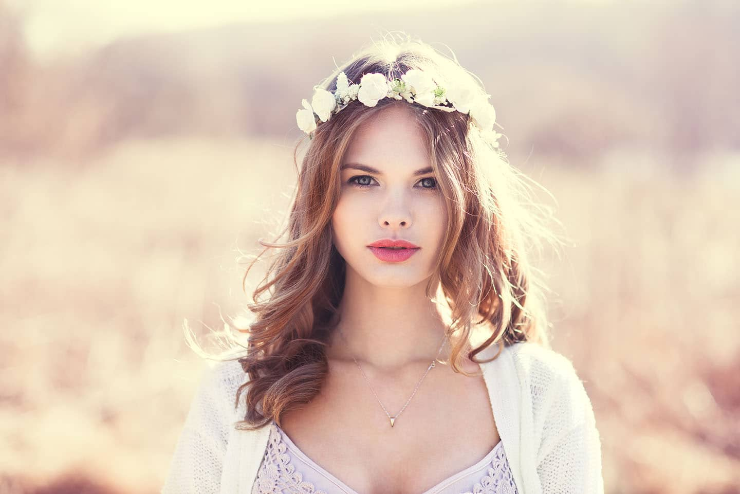 Floral crowns to complete bridal hairstyles makeup in the 702 floral crowns a perfect for any season and bring a fresh twist to any wedding hairstyle izmirmasajfo